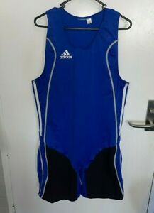 Adidas W8 Lifter Weightlifting Powerlifting Wrestling Singlet Suit XL Vintage