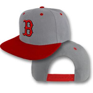 Boston Red Sox Snap Back Cap Hat Embroidered Men Adjustable Flat Bill