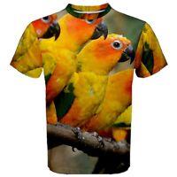 New PARROT SUN CONURE BIRD PET Sublimated Men's Sport Mesh Tee T-Shirt S-3XL