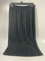 Val Andrea Women's A-Line Vintage Skirt Pleated Black Size Medium
