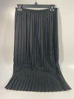 Val Andrea Women's A-Line Vintage Skirt Pleated Black Size Medium