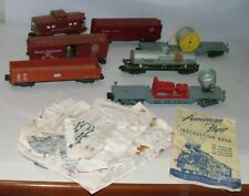 % 1950'S S-SCALE AMERICAN FLYER TRAIN CAR COLLECTION LOT A-1
