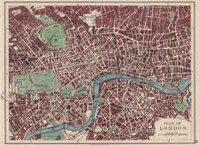 Londres plan. west end pimlico city southwark islington lambeth. johnston 1900 carte