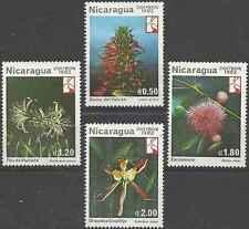 Timbres Flore Nicaragua 1218/21 ** lot 19480