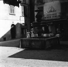 BERGAME c. 1950 - Fontaine Restaurant Haute Italie - Négatif 6 x 6 - ITAL 15