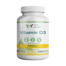 A to Z Puro salud de vitamina D3 4000iu, 365 Cápsulas