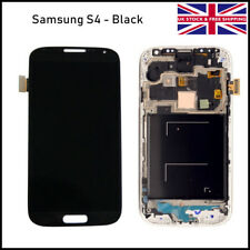 Samsung Galaxy S4 LCD Touch Screen Digitizer Frame Assembly Replacement Black