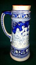 Antiker Bierkrug Schankkanne Steinzeug Keramik um 1900 Höhe 30,5cm  ca. 2 Liter