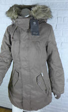 Winter-Damenjacken & -mäntel aus Baumwollmischung mit Kapuze