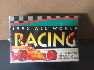 """1992 All World Racing- """"Limited Edition"""" 100 card set"""
