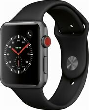 Apple Watch Series 3 42mm Space Gray Case with Black Sport Band GPS + Cellular