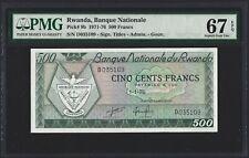 RWANDA 500 Francs 1976, P-9b, PMG 67 EPQ Superb Gem UNC, TOP POP Single Finest