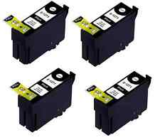 4PK Extra Hi-Yield BK Ink For Epson 127 WorkForce 60 545 630 633 635 645 840 845