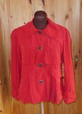 PER UNA M&S cherry scarlet red winter mac swing bubble coat jacket 12 40