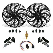 "Super Cool Pack 10"" S Blade Fans, Fixed Temp Switch, Harness, Bracket Additive"