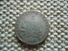 FRANCE 1898 2 FRANCS SILVER COIN. THIRD REPUBLIC 10g., 27mm.