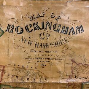 Rockingham County Map 1857 Smith and Coffin, Philadelphia