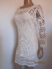 Jen's Pirate Booty for Free People Crochet Lace Bodycon Dress Size M / L ~NWOT~