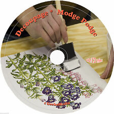 How to Decoupage and Modge Podge 7 Books on CD paper glue print napkin rice art