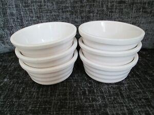 Charlie Bigham's 6 x White Ceramic Individual  Pie Dishes, Pots Ramekins 11.8 cm