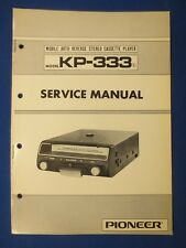 Pioneer KP-333 Cassette Service Manual Factory Original The Real Thing