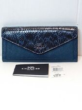 NWT COACH Reserve Genuine Snake Skin and Pebbled Leather Wallet F59008