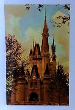 Disney World Cinderella Castle Fantasyland Twilight View Vintage Postcard
