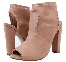 Delicious Women's Open Toe Chunky Block Heel Ankle Bootie #Zabat-s