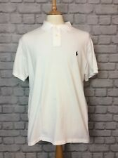 POLO RALPH LAUREN MENS UK XL WHITE SLIM FIT POLO SHIRT CASUAL DESIGNER CLASSIC