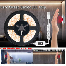 0.5-5m LED Capteur de Mouvement Ruban Guirlande Bande de Lumière Armoire Cuisine