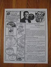 RECORD RESEARCH Francis Mackillen Cliff Edwards Les Paul Gene Austin vintage old