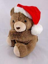 """Hallmark Christmas Bear Plush Arms Hug Sits 8"""""""