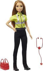 Barbie Paramedic DollPetite Brunette 12-in Kids Gift Doll New 2021