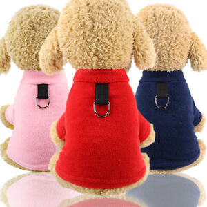 Hot Sale Warm Fleece D-ring Fall Winter Dog Shirt Coat Puppy Dog Cat Vest Outfit