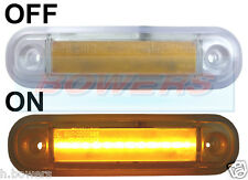12V/24V SURFACE MOUNT AMBER LED SIDE MARKER LAMP / LIGHT TRUCK VAN CAR KELSA BAR