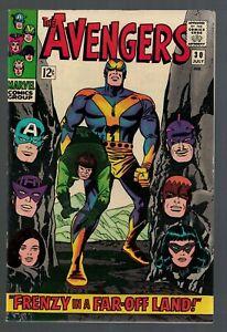 Marvel Comics Avengers 30 Frenzy in a far off land VFN+ 8.5 1966 captain america