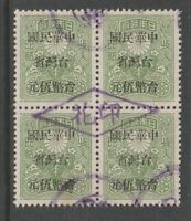 Japan China Taiwan 1945 fiscal revenue stamp 7-10-20 no gum nice cancel