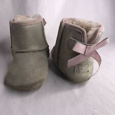 Ugg Baby Boots 4/5 Metallic Gold Jesse Bow Infant