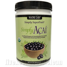Madre Labs - Simply Acai - Certified Organic Acai Berry Powder - 227g EXP 11/17