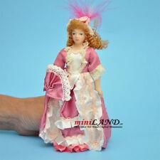 Casa de muñecas se desnudó Dama Mujer Muñeca de porcelana con gente Bollo En Miniatura