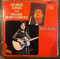 "George Jones and Melba Montgomery Country Winners 12"" Vinyl LP Insanely Rare"