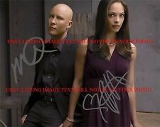 KRISTIN KREUK AND MICHAEL ROSENBAUM SIGNED AUTOGRAPHED 8x10 RP PHOTO SMALLVILLE