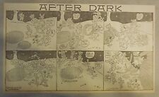 After Dark by A.D. Reed from 1912 Half Page Size (Very Early Funny Animal Strip)