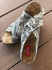 Esprit Shoes Women's Oceane Snake Look Wedge Sandal Slip on Size  7.5 Medium