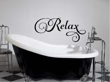 """Relax Bathroom Bubble Bath Sticker washroom vinyl Wall Decal Sticker 7"""" x 16"""""""