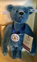 "1994 STEIFF CLUB 13-3/4"" BLUE TEDDY BEAR Elliot 1908 REPLICA 420047 COA IN BOX"