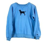 The Black Dog Women's Blue Pullover Crew Neck Size Small Sweatshirt