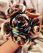 6 Paper Rose Comic Book Bridal Bouquet Superhero 💐