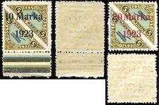 1923 Estonia air mail overprint on pairs 10 + 20 Marka RARE MNH