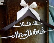 Wedding Dress Hanger Custom w Bride Bridesmaid Name Bridal Shower Gift LL009SI